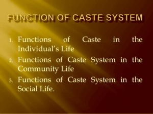 caste system functions
