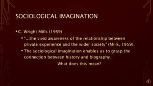 sociological imagination meaning