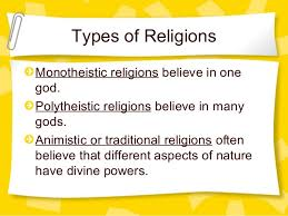 types of religion