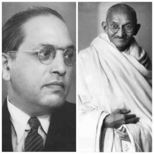 ideological similarities - differences between gandhi and ambedkar