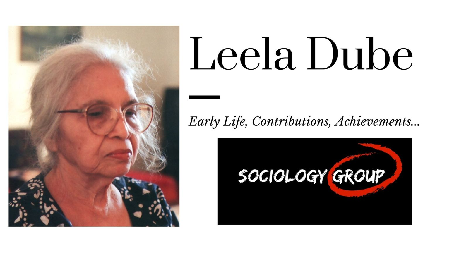 Leela Dube: Feminist Anthropologist Works