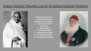Indian Political Thought_ List of 10 Political thinkers in India