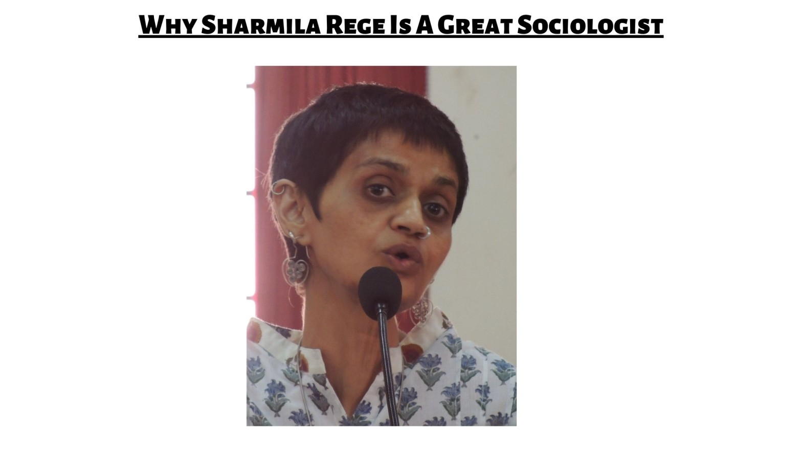 why sharmila rege is a great sociologist and her contributions